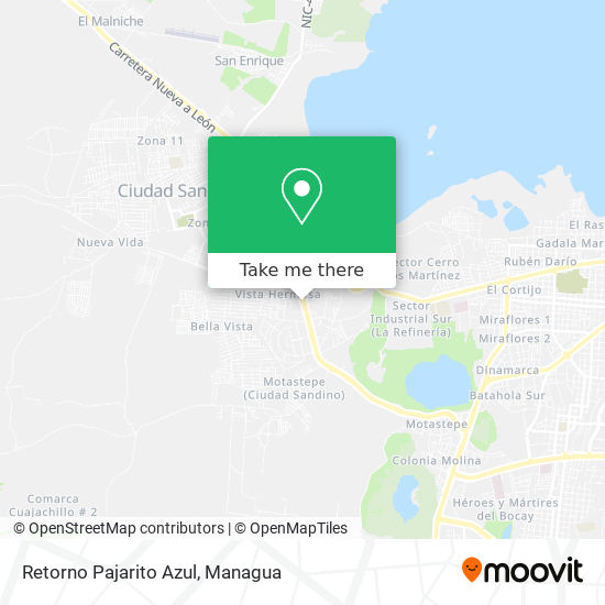 Retorno Pajarito Azul map