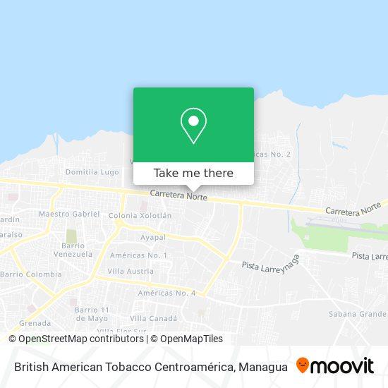British American Tobacco Centroamérica map