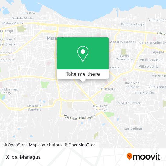 Xiloa map