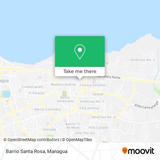 Barrio Santa Rosa map