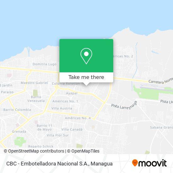 CBC - Embotelladora Nacional S.A. map