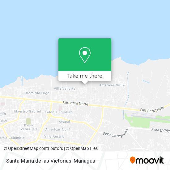 Santa María de las Victorias map