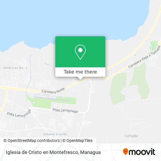 Iglesia de Cristo en Montefresco map