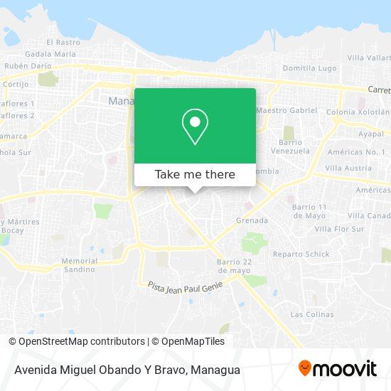Avenida Miguel Obando Y Bravo map