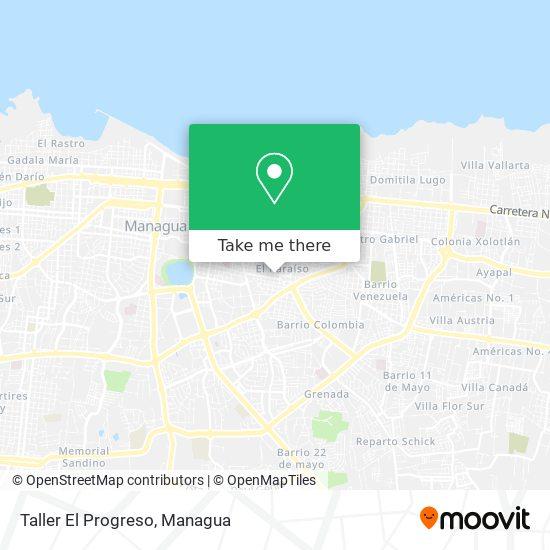 Taller El Progreso map
