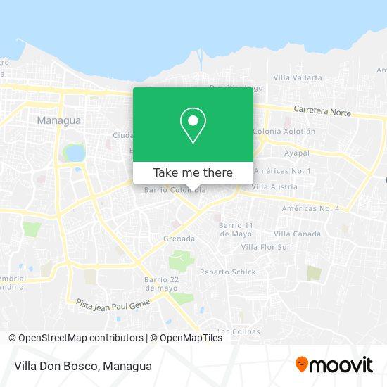 Villa Don Bosco map