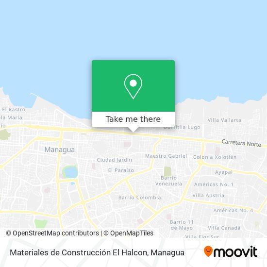 Materiales de Construcción El Halcon map
