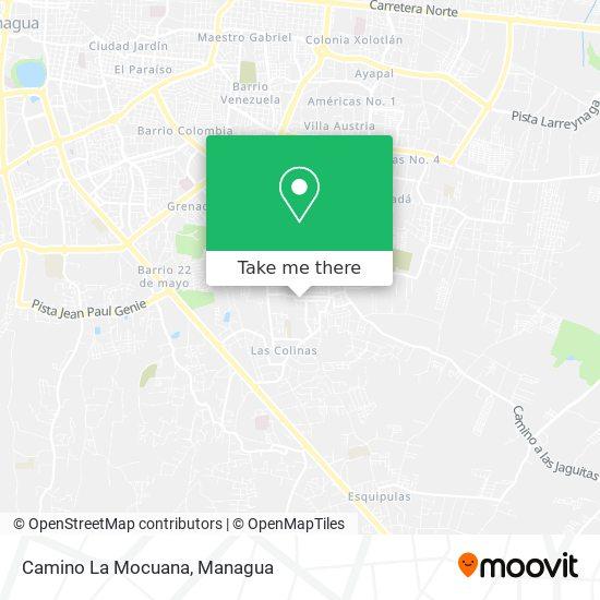 Camino La Mocuana map