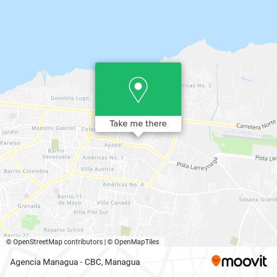 Agencia Managua - CBC map
