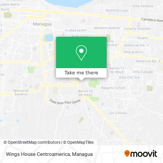 Wings House Centroamerica map