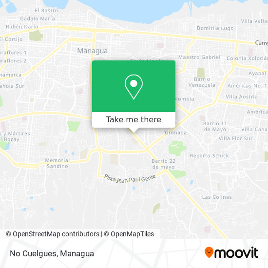 No Cuelgues map