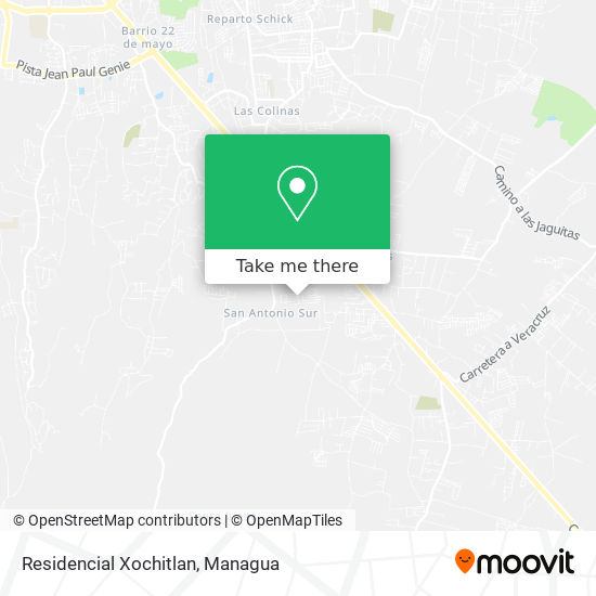 Residencial Xochitlan map