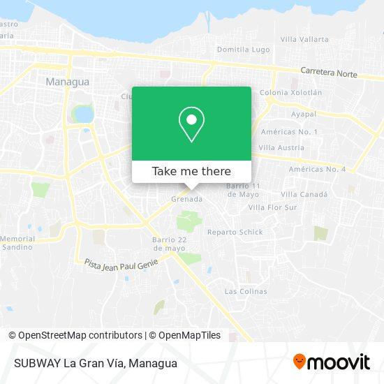 SUBWAY La Gran Vía map