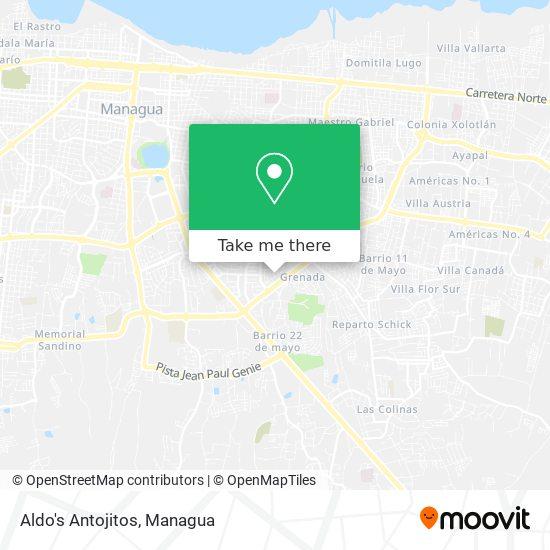 Aldo's Antojitos map