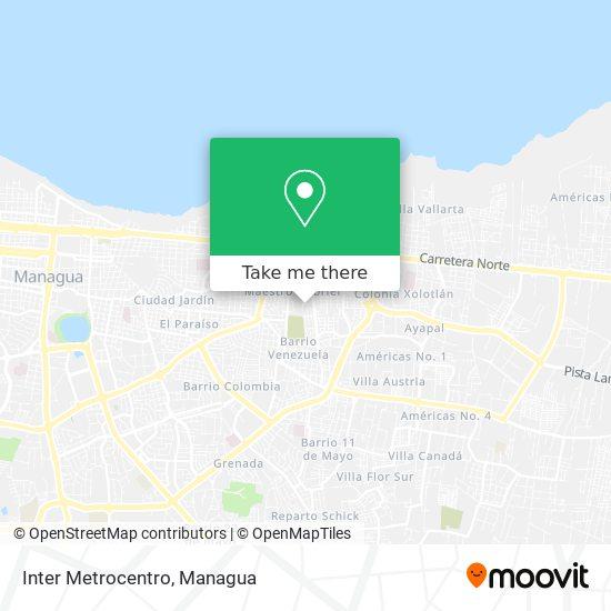 Inter Metrocentro map