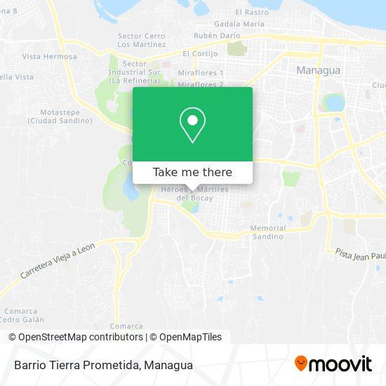 Barrio Tierra Prometida map