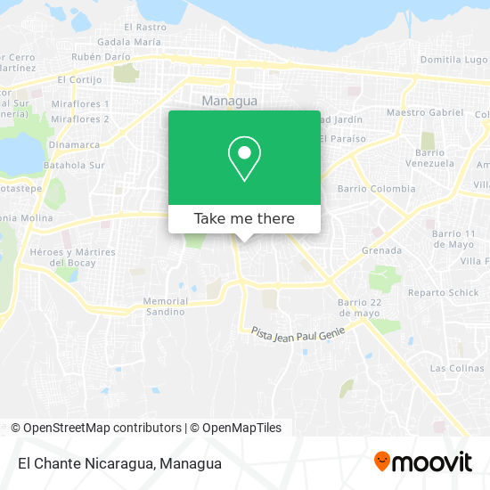 El Chante Nicaragua map