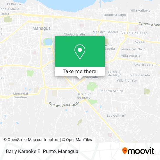 Bar y Karaoke El Punto map