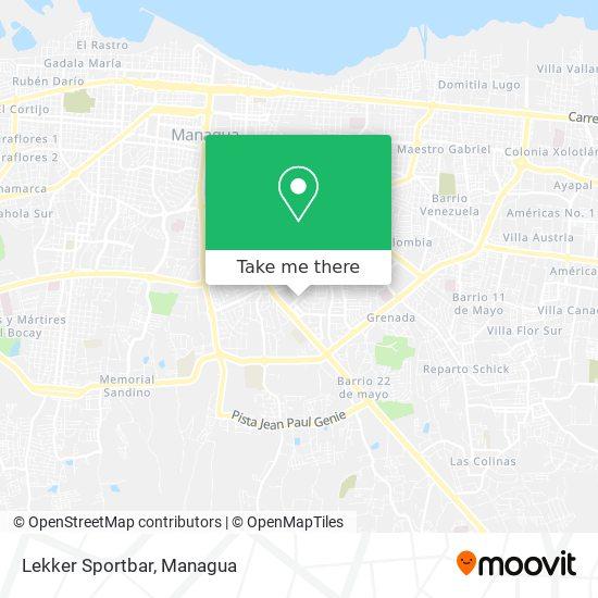 Lekker Sportbar map