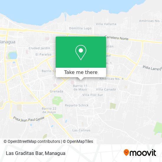 Las Graditas Bar map