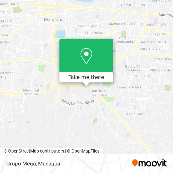 Grupo Mega map