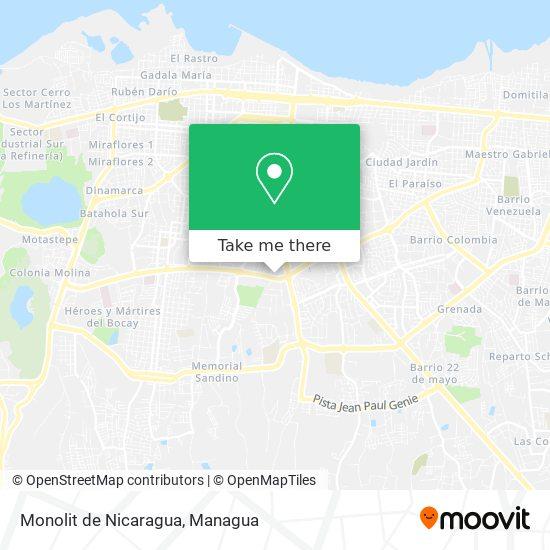 Monolit de Nicaragua map