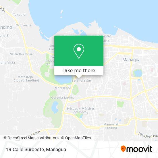 19 Calle Suroeste map