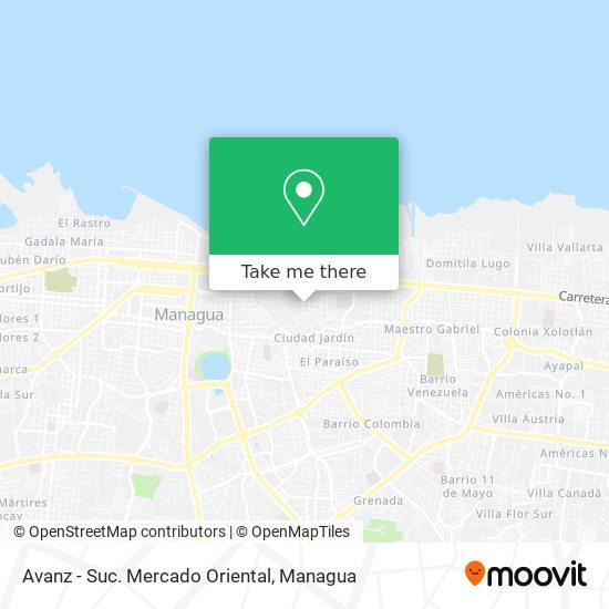 Avanz - Suc. Mercado Oriental map