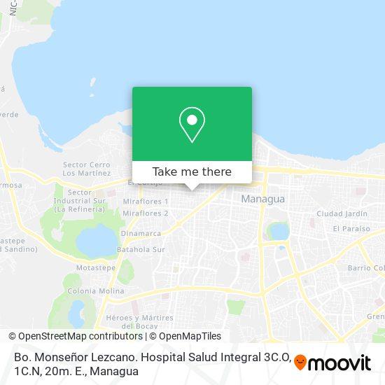 Bo. Monseñor Lezcano. Hospital Salud Integral 3C.O, 1C.N, 20m. E. map