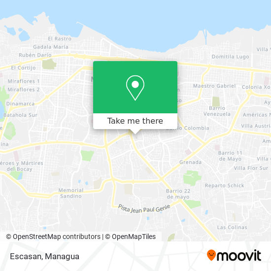 Escasan map