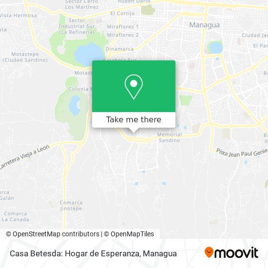Casa Betesda: Hogar de Esperanza map