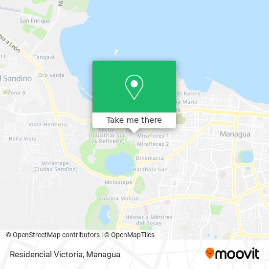 Residencial Victoria map