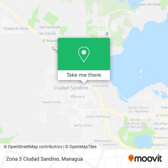 Zona 3 Ciudad Sandino map
