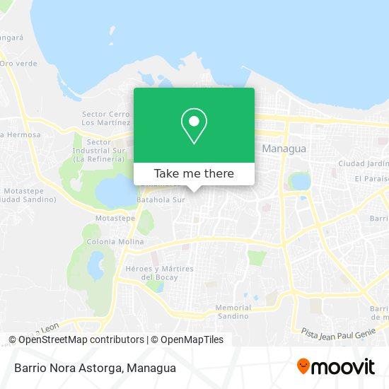 Barrio Nora Astorga map