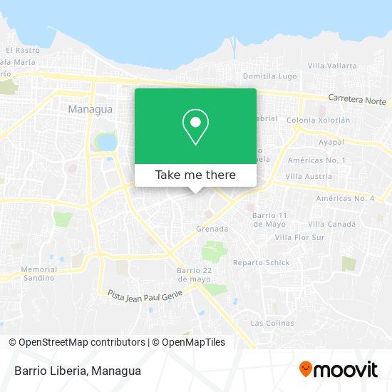 Barrio Liberia map