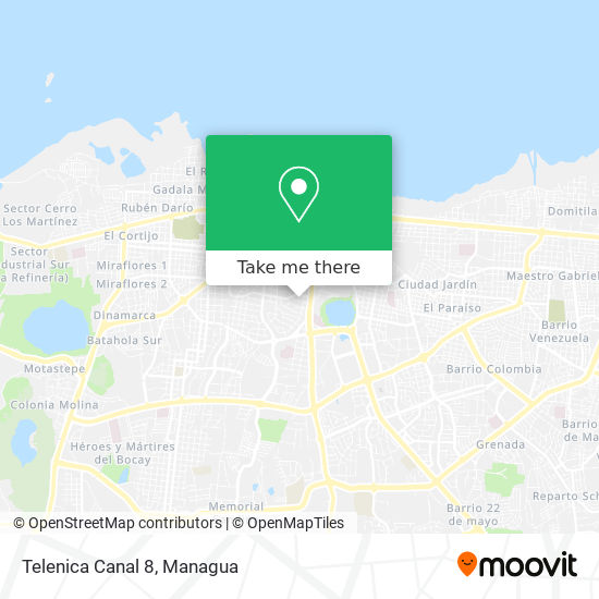 Telenica Canal 8 map