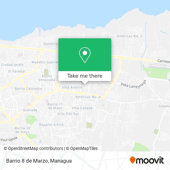 Barrio 8 de Marzo map