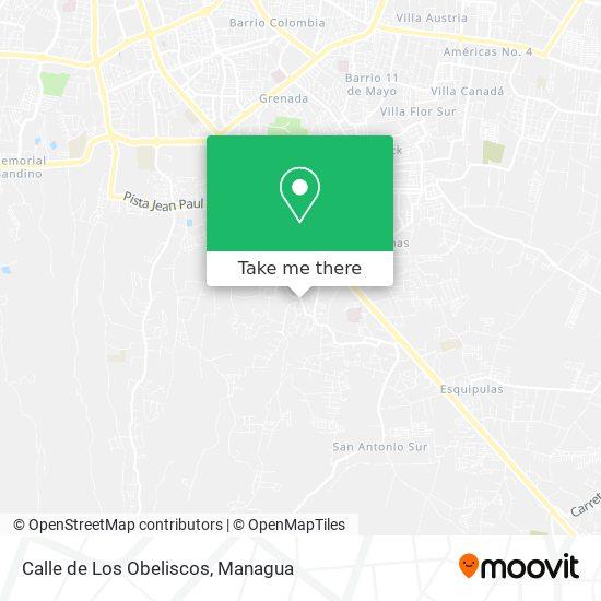 Calle de Los Obeliscos map
