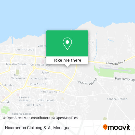 Nicamerica Clothing S. A. map