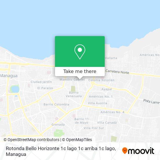 Rotonda Bello Horizonte 1c lago 1c arriba 1c lago map