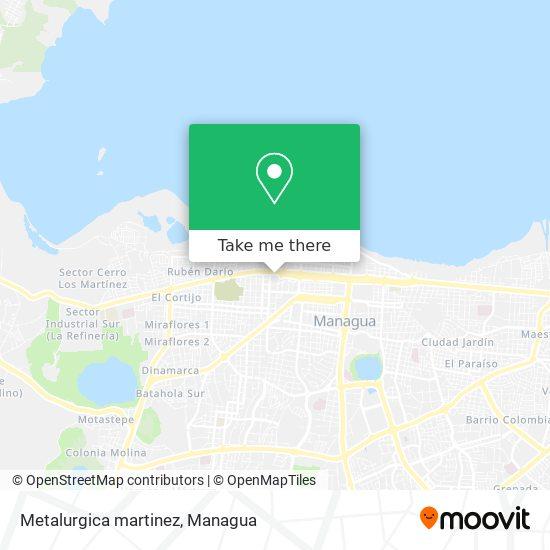 Metalurgica martinez map