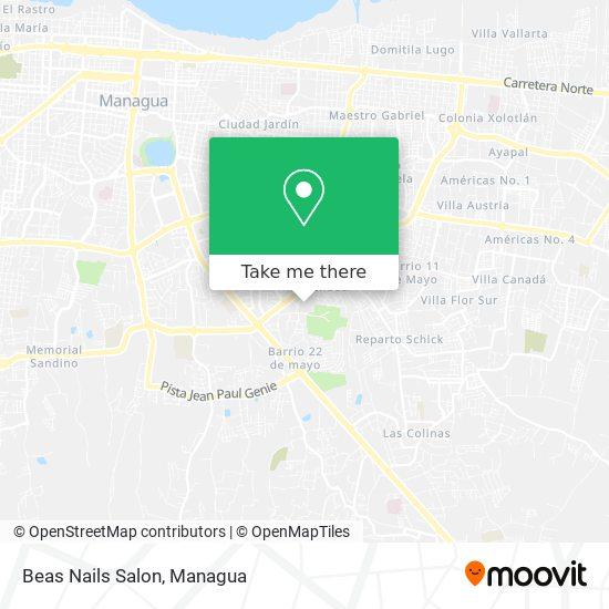 Beas Nails Salon map