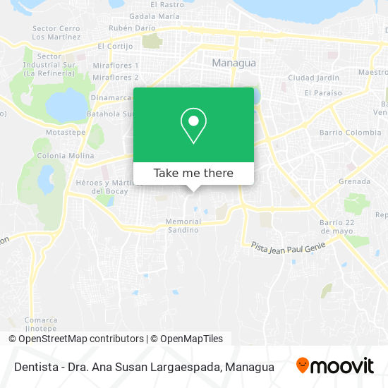 Dentista - Dra. Ana Susan Largaespada map