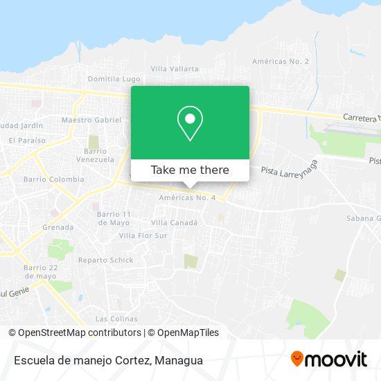 Escuela de manejo Cortez map