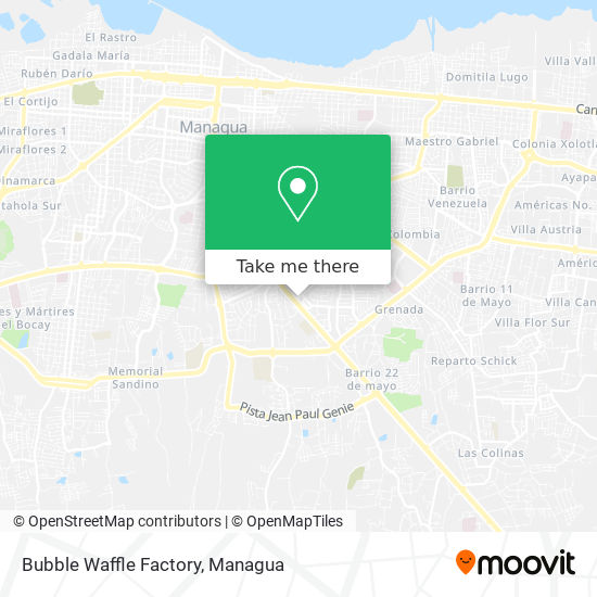 Bubble Waffle Factory map