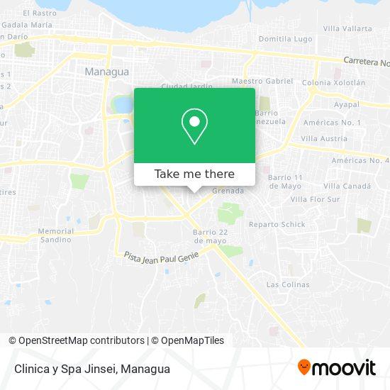 Clinica y Spa Jinsei map
