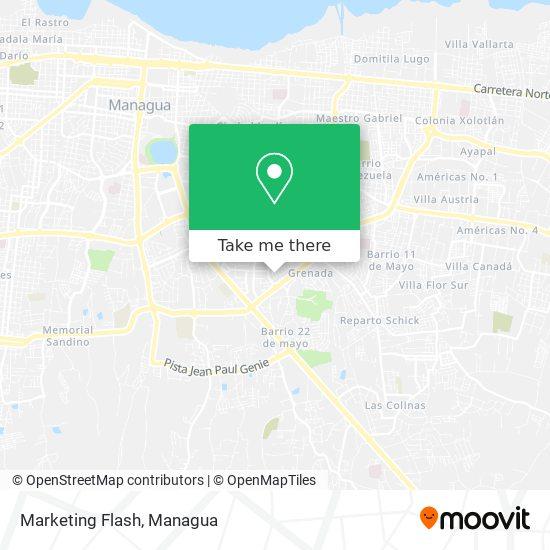 Marketing Flash map