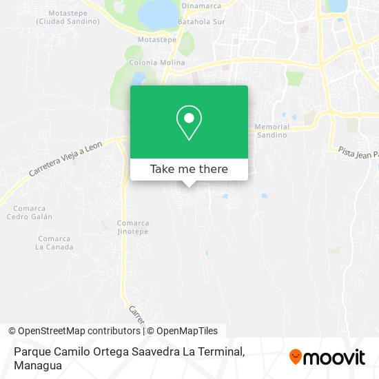 Parque Camilo Ortega Saavedra La Terminal map