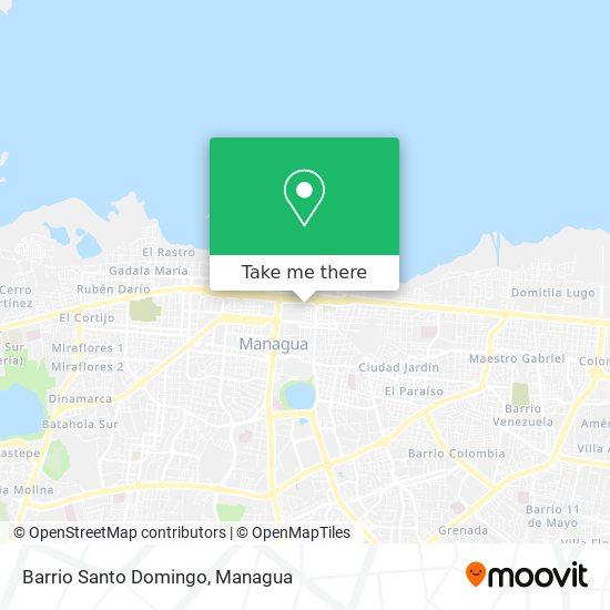 Barrio Santo Domingo map