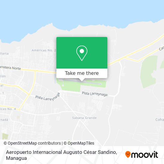 Aeropuerto Internacional Augusto César Sandino map